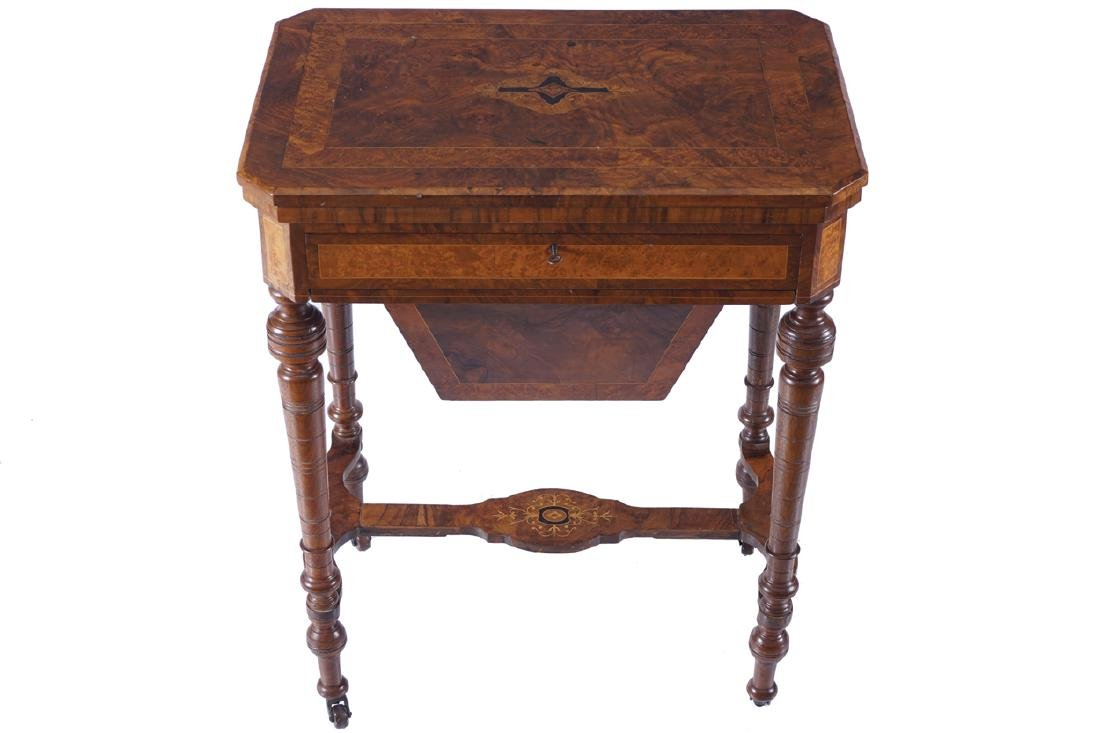NINETEENTH-CENTURY WALNUT AND INLAID GAMES TABLE