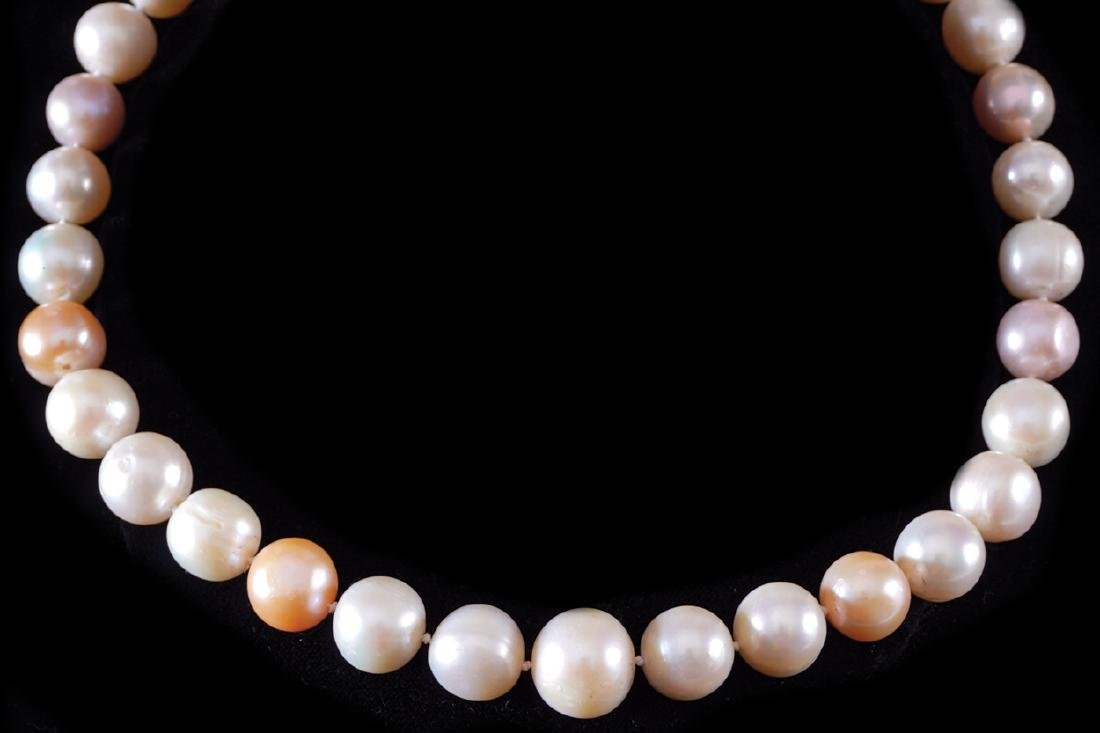 SOUTH SEA PEARL NECKLACE WITH 18 CT YELLOW AND WHITE