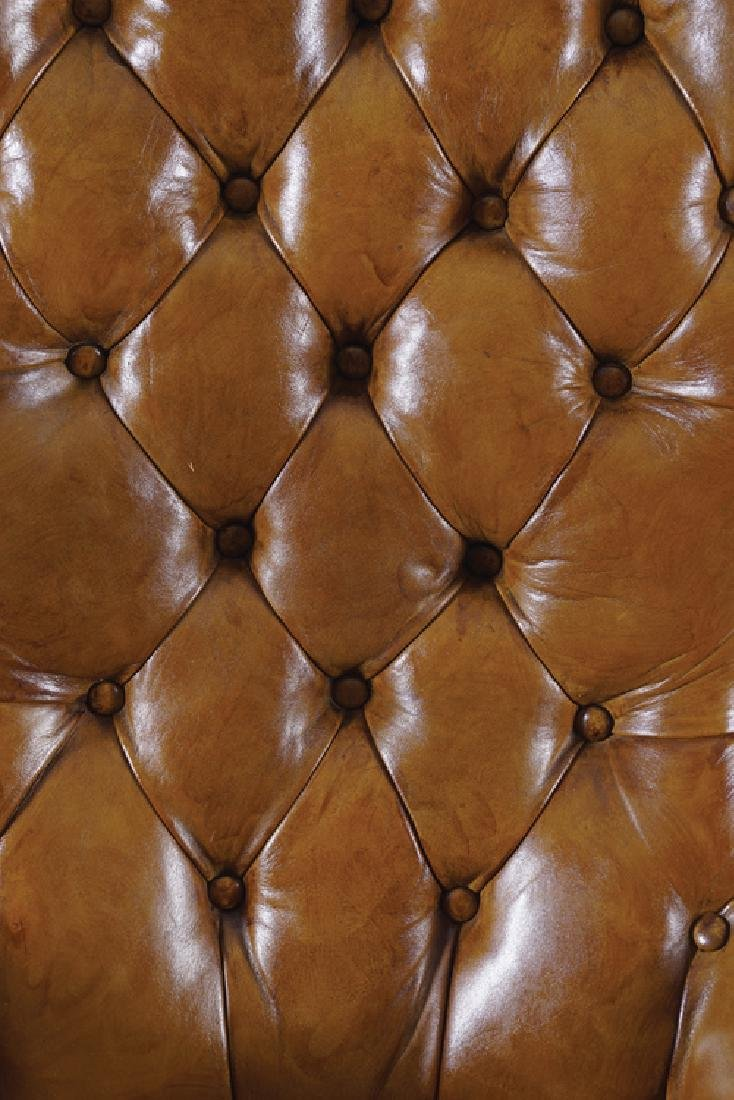 NINETEENTH-CENTURY MAHOGANY AND HIDE UPHOLSTERED - 2