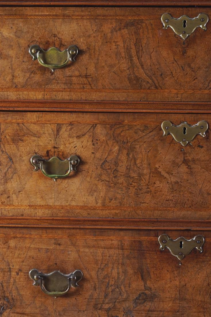 EIGHTEENTH-CENTURY WALNUT AND HERRING BONE INLAID CHEST - 2