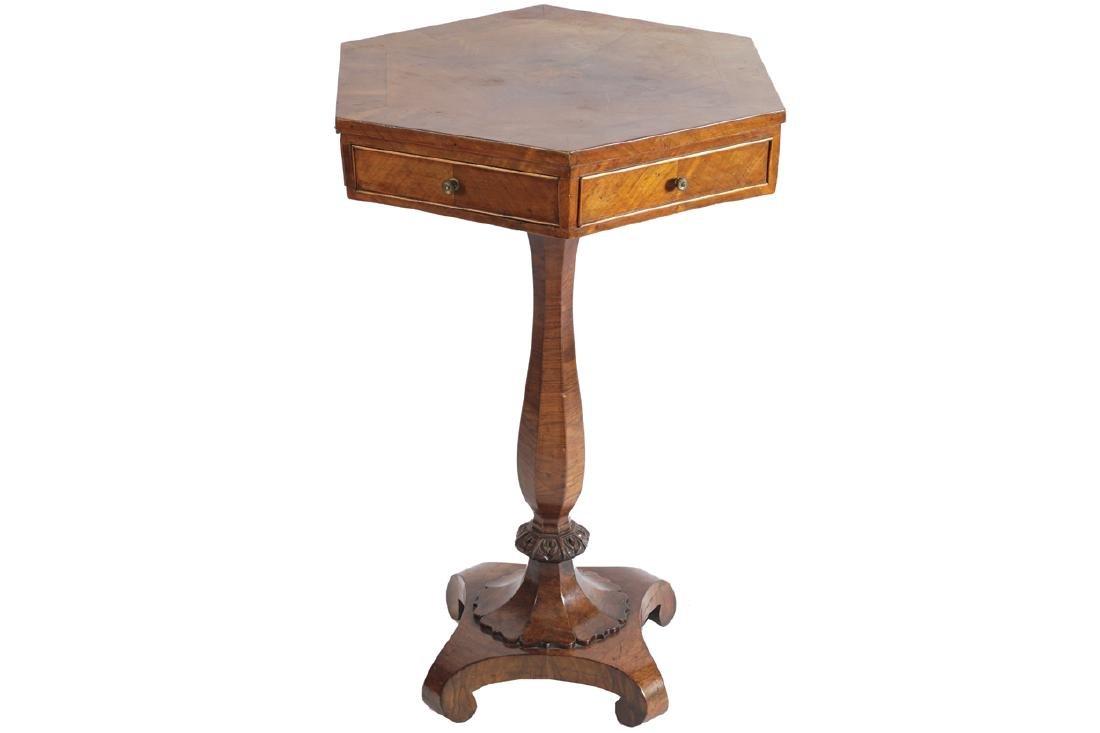NINETEENTH-CENTURY MAHOGANY DRUM TABLE