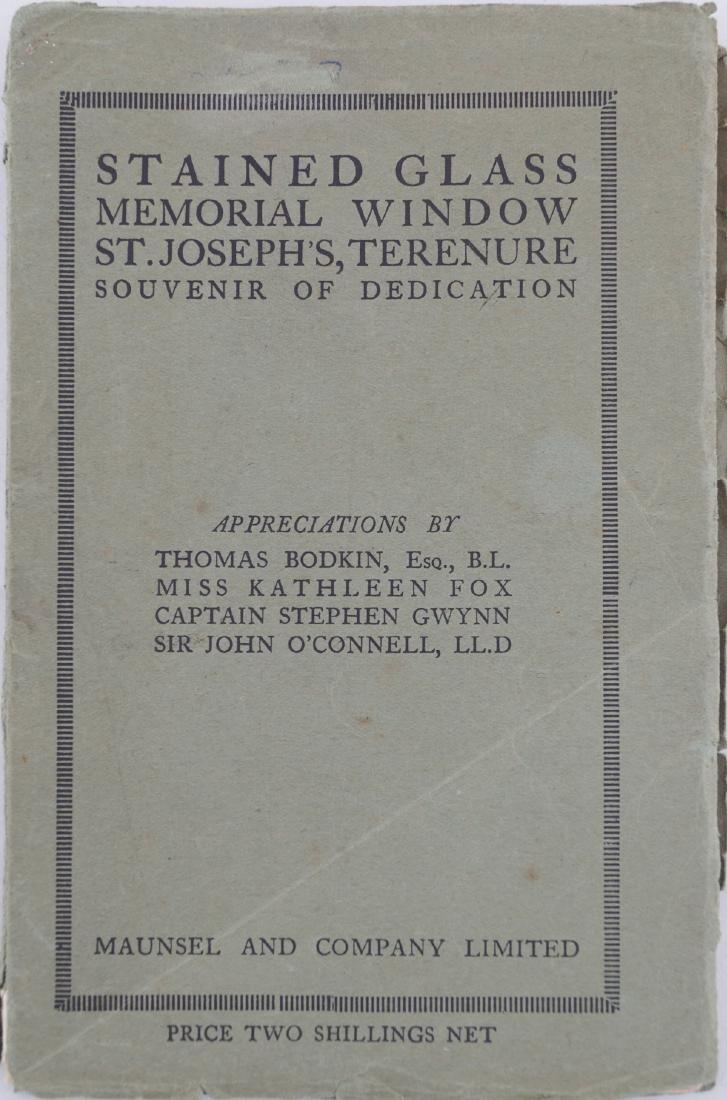 THOMAS BODKIN ET AL: STAINED GLASS MEMORIAL WINDOW, ST