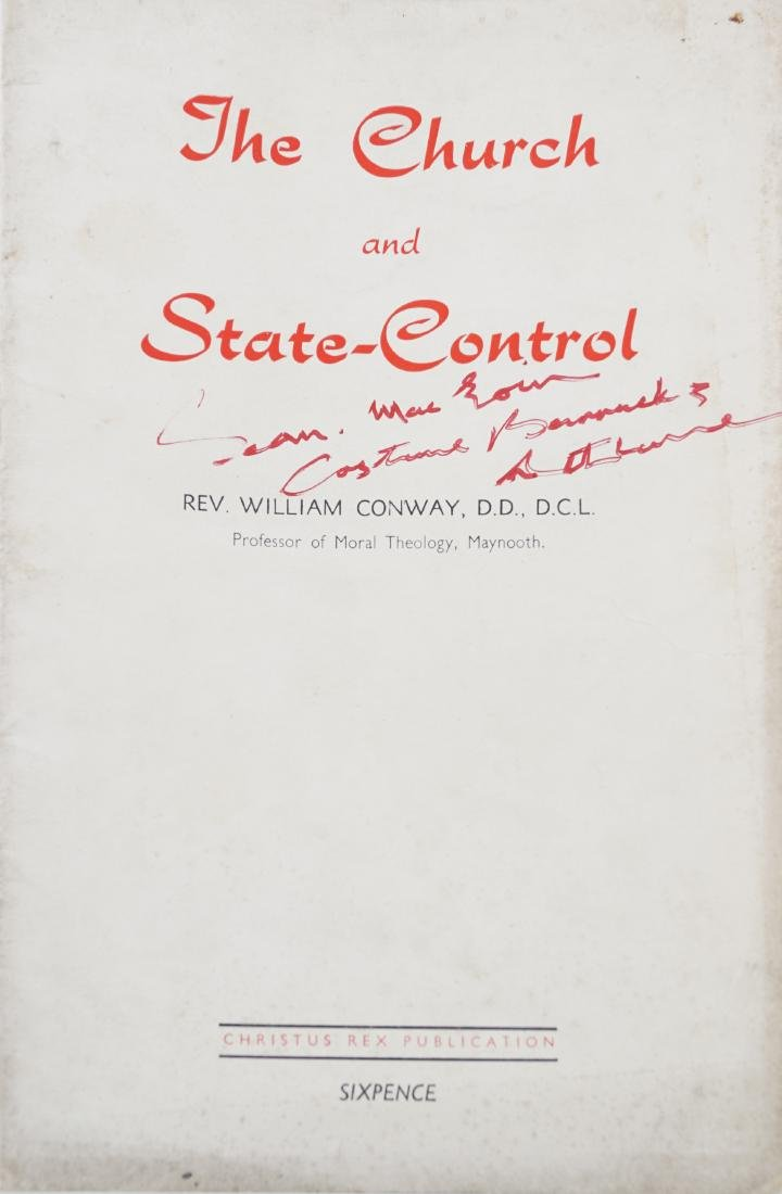 CONWAY, WILLIAM, THE CHURCH AND STATE-CONTROL Naas,