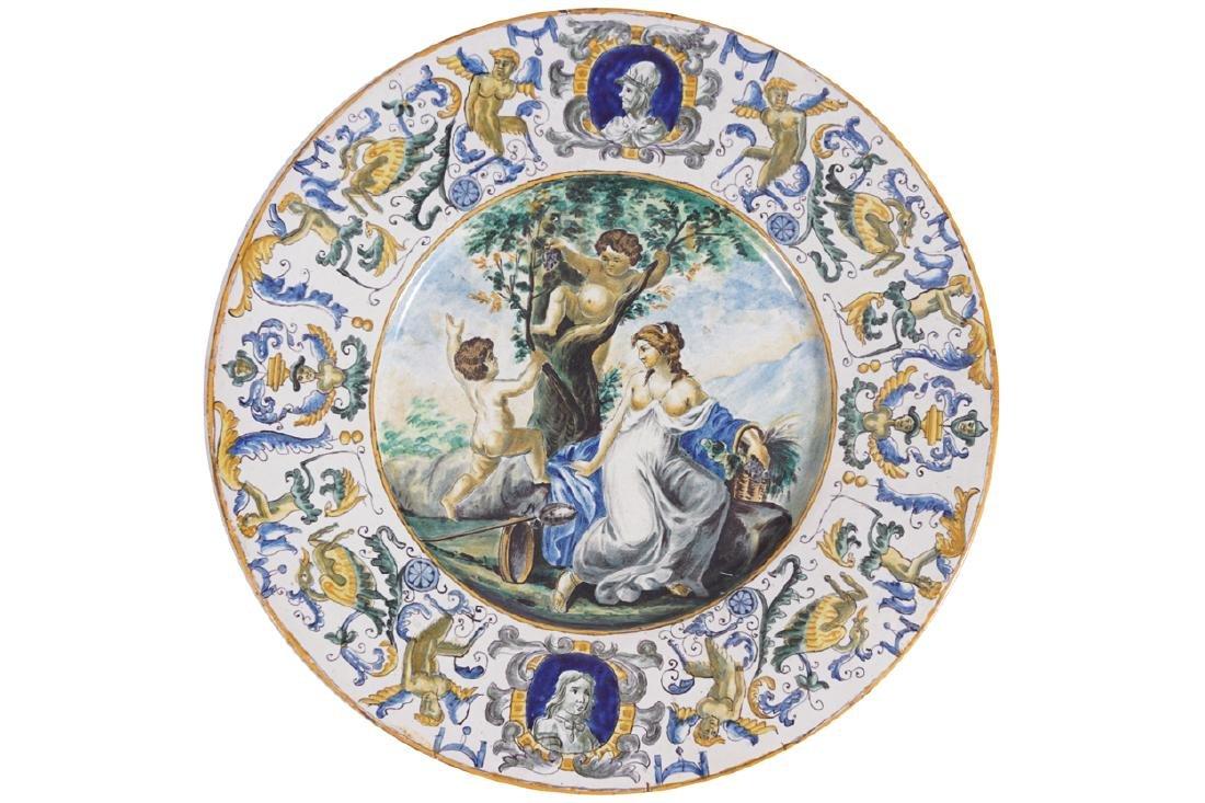 NINETEENTH-CENTURY ITALIAN MAJOLICA WALL PLAQUE