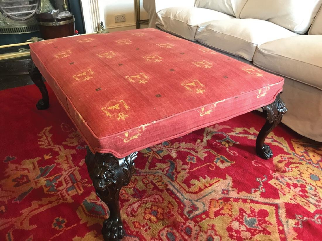 LATE NINETEENTH-CENTURY DUBLIN MAHOGANY AND UPHOLSTERED