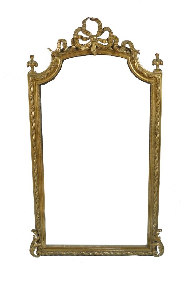 NINETEENTH-CENTURY GILT FRAMED PIER MIRROR