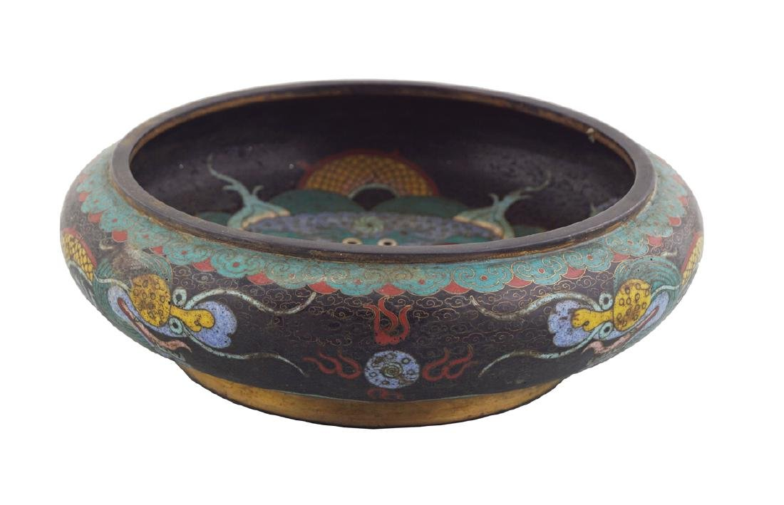 CHINESE CLOISONNE ENAMELLED BOWL