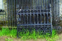 PAIR OF CAST IRON ENTRANCE GATES