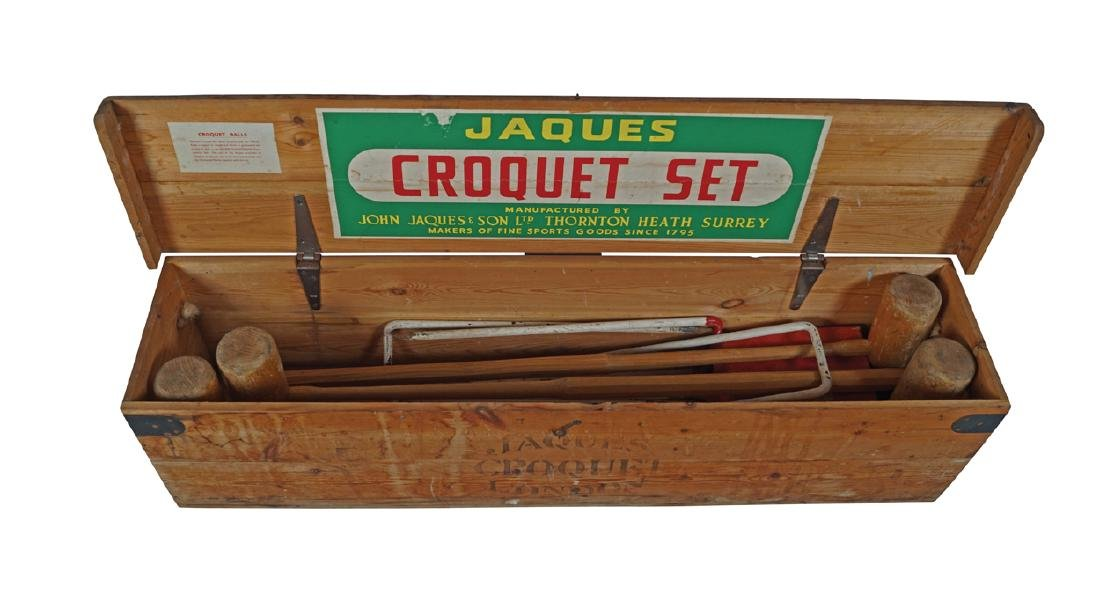 CASED JACQUES CROQUET SET