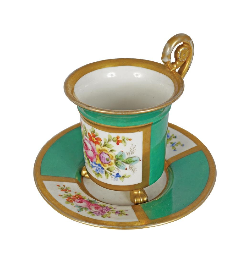 NINETEENTH-CENTURY PORCELAIN CABINET CUP AND SAUCER