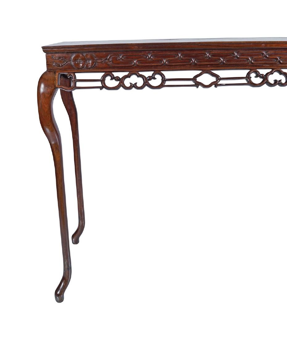 CHINESE QING PERIOD HARDWOOD CEREMONIAL TABLE - 2
