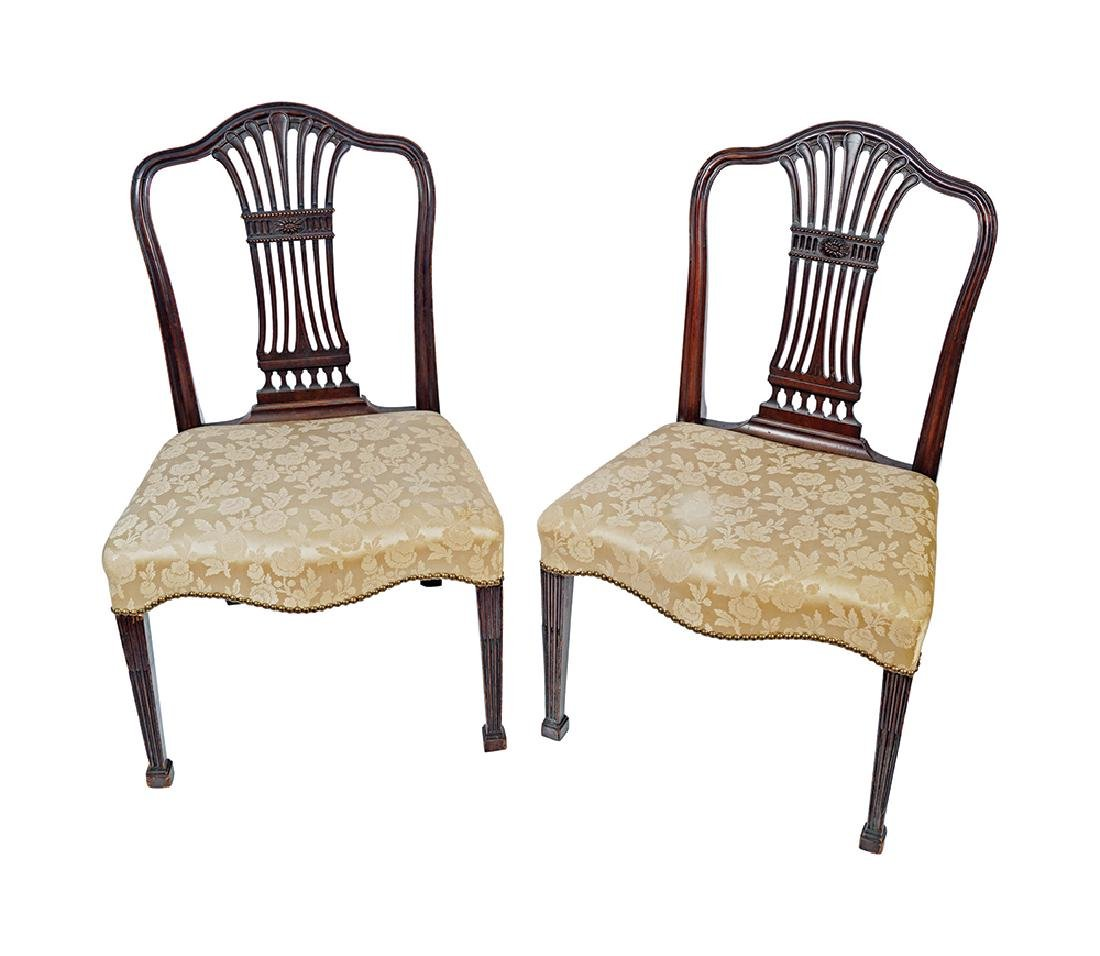 GEORGE III PERIOD MAHOGANY HEPPLEWHITE CHAIRS. placeholder  sc 1 st  LiveAuctioneers & PR. GEORGE III PERIOD MAHOGANY HEPPLEWHITE CHAIRS