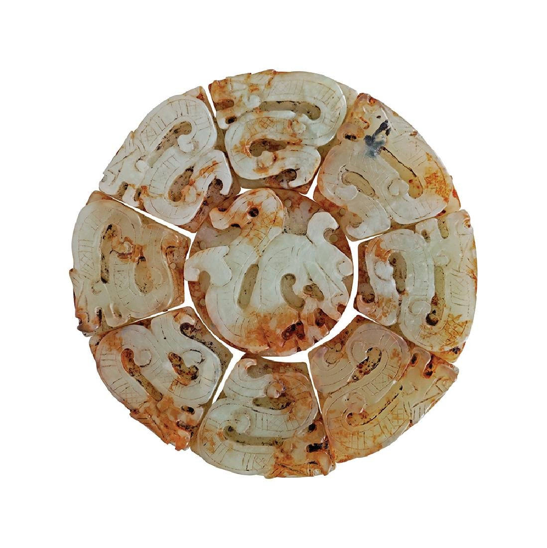 CHINESE ARCHAISTIC JADE DISK