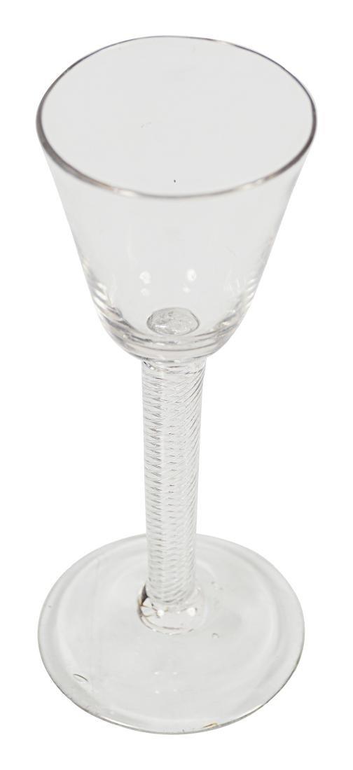 EIGHTEENTH-CENTURY AIR TWIST WINE GLASS