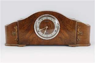 ART DECO WALNUT CASED MANTLE CLOCK