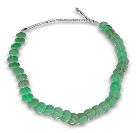 SILVER AND JADE NECKLACE