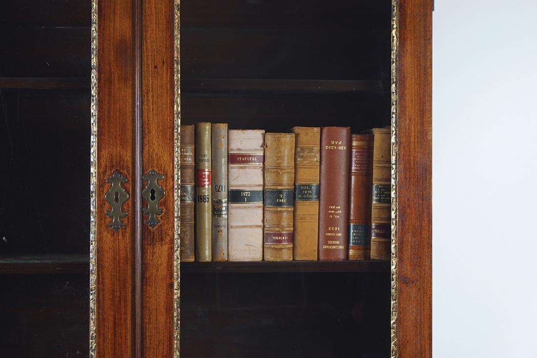 GEORGE II PERIOD RED WALNUT BUREAU BOOKCASE - 2