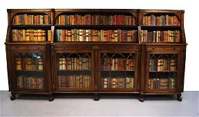 LARGE REGENCY PERIOD ROSEWOOD BOOKCASE