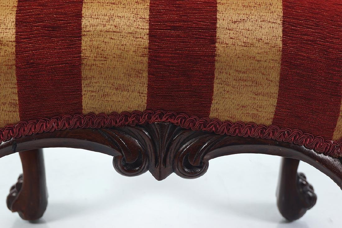 IRISH 19TH-CENTURY MAHOGANY AND UPHOLSTERED STOOL - 3