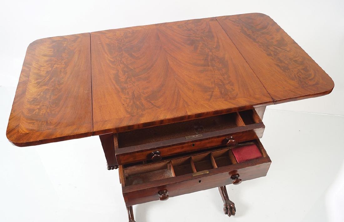 REGENCY PERIOD MAHOGANY SOFA TABLE - 5