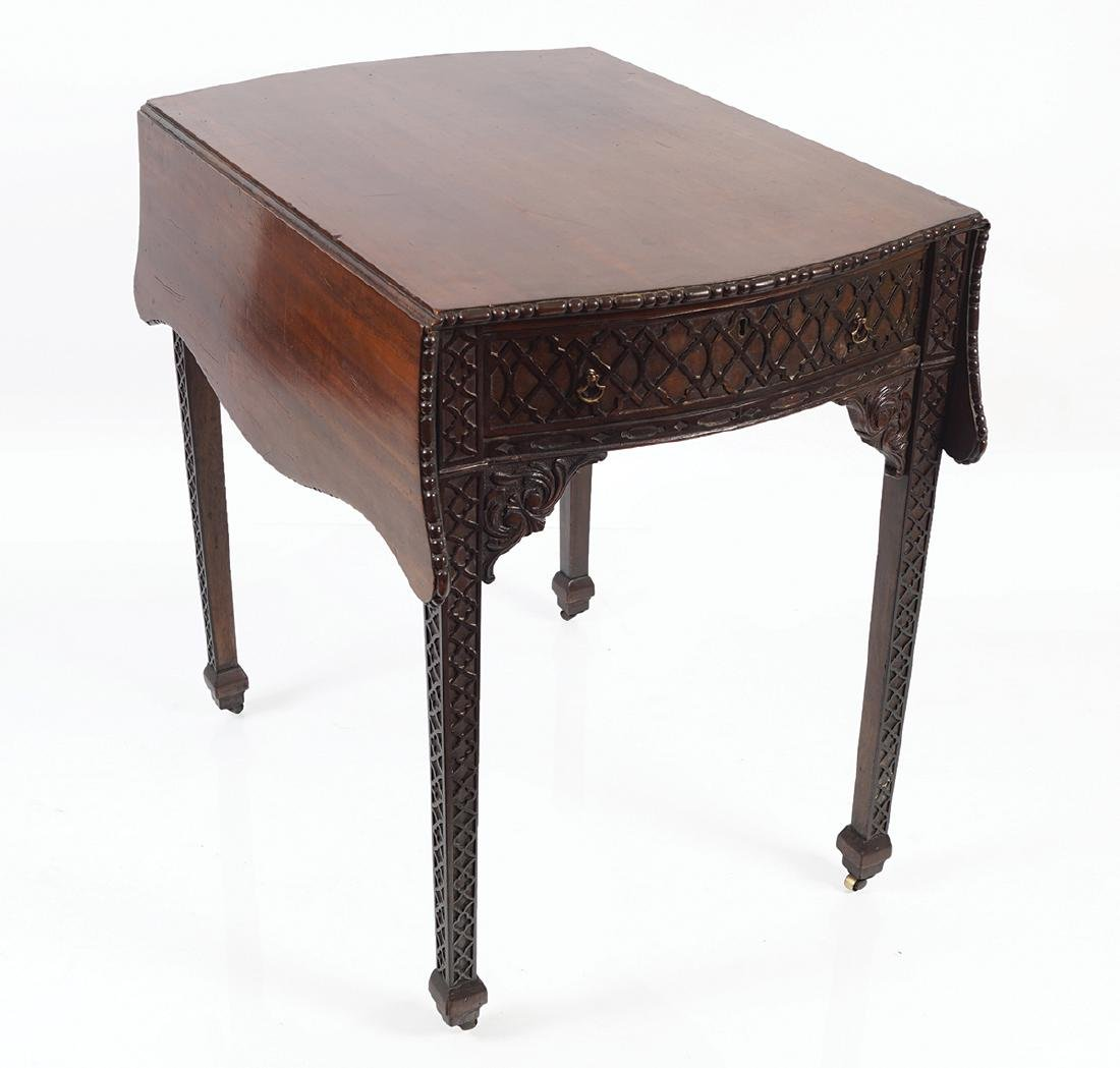 GEORGE III MAHOGANY CHIPPENDALE PEMBROKE TABLE