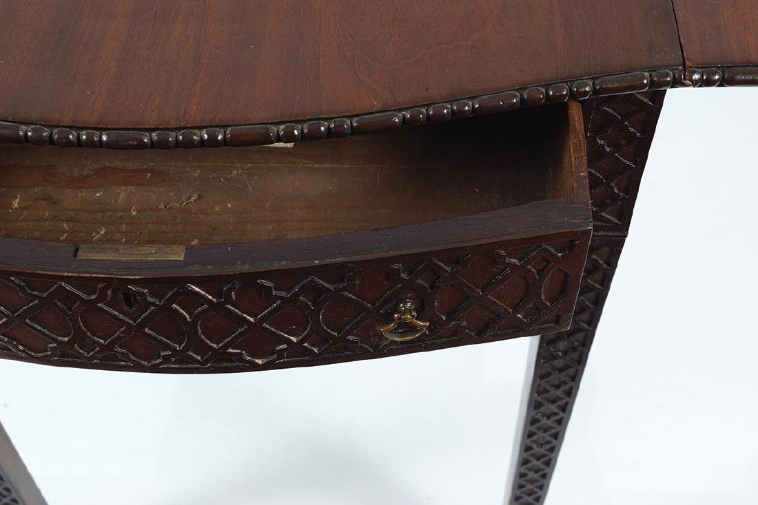 GEORGE III MAHOGANY CHIPPENDALE PEMBROKE TABLE - 6