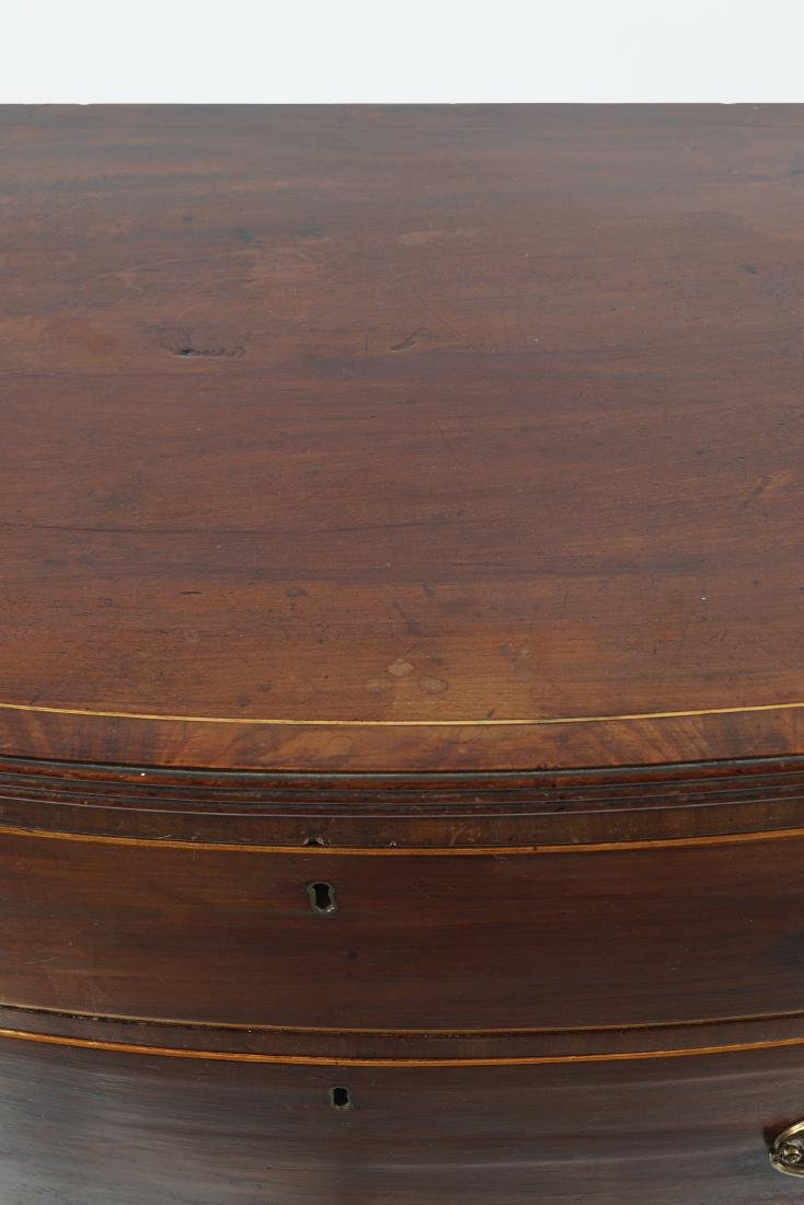 GEORGE III MAHOGANY AND BOXWOOD INLAID CHEST - 4