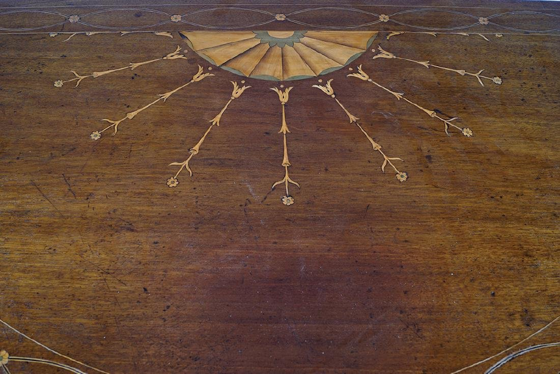 GEORGE III PERIOD MAHOGANY AND MARQUETRY TABLE - 2