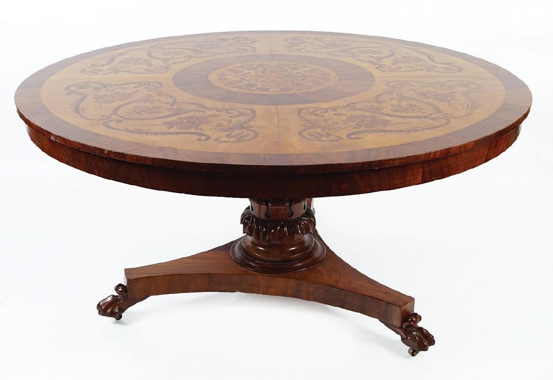 LARGE WILLIAM IV CIRCULAR TABLE