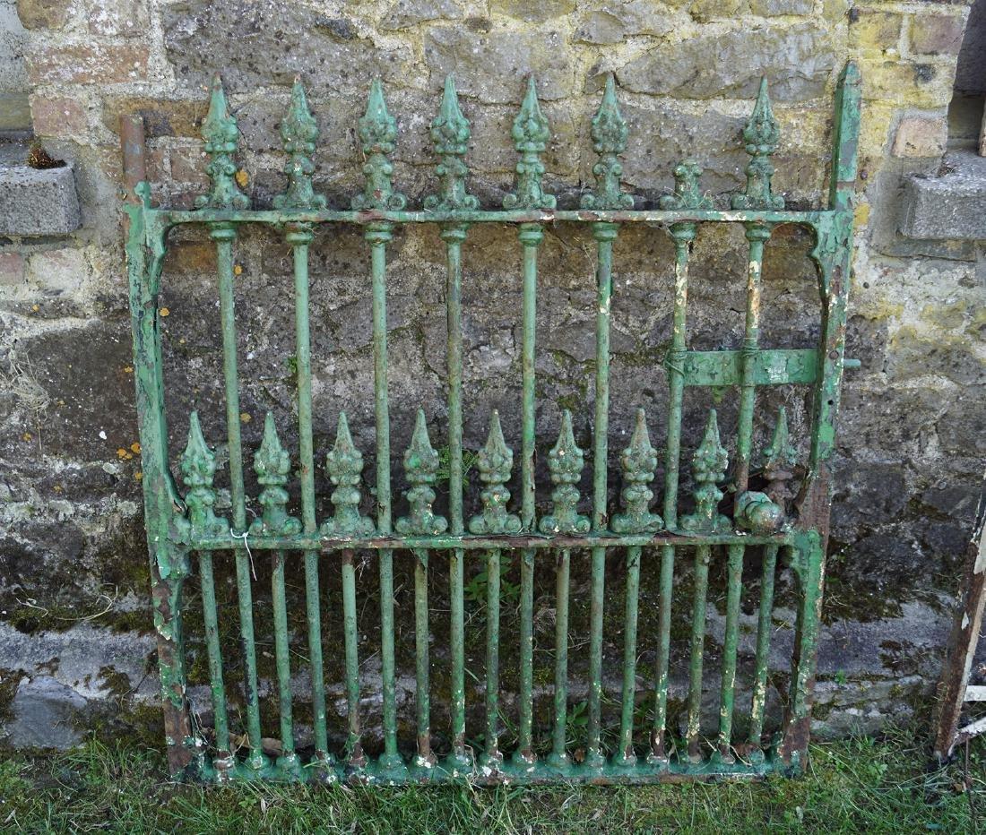 19TH-CENTURY CAST IRON GARDEN GATE
