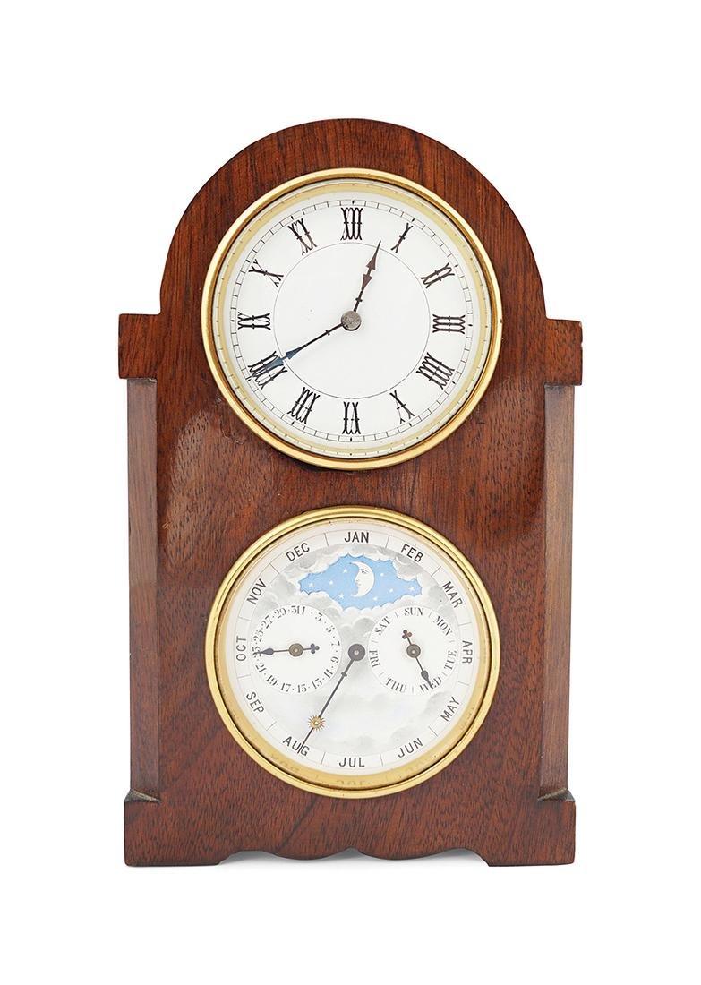 EDWARDIAN MAHOGANY CASED CLOCK