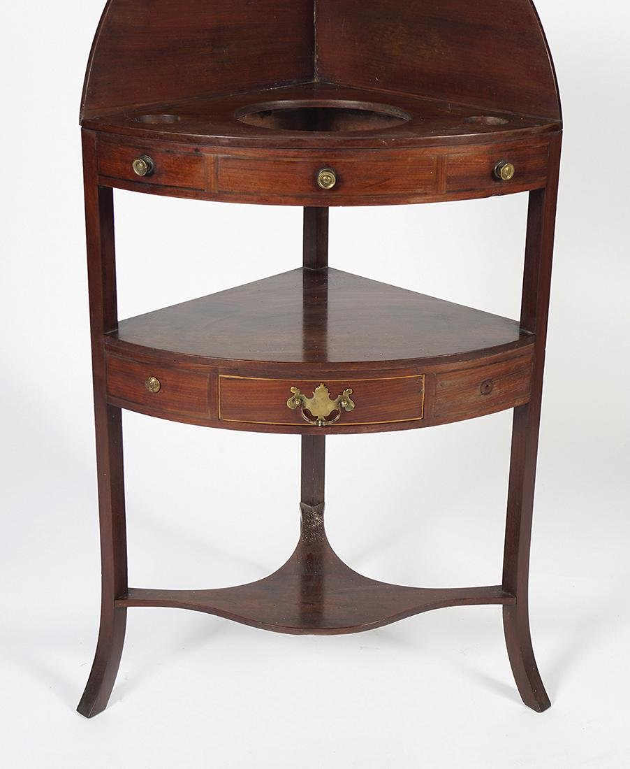 GEORGE III MAHOGANY AND BOXWOOD INLAID CORNER