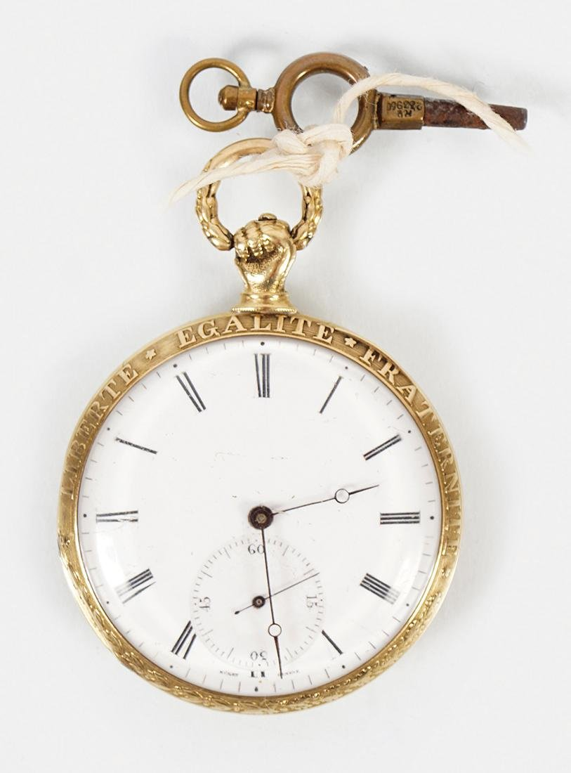 18 CT. OPEN FACE GOLD FUSEE POCKET WATCH