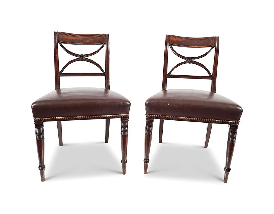 SET OF 10 REGENCY PERIOD MAHOGANY DINING CHAIRS