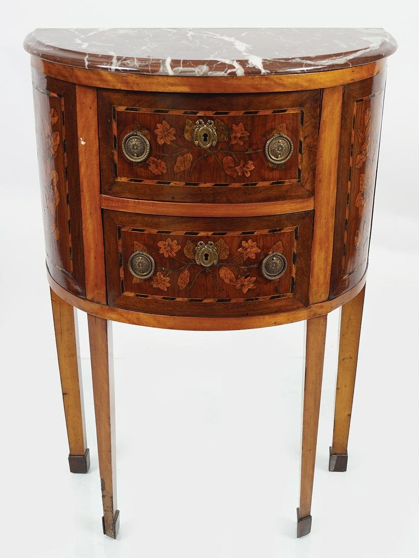 LATE 18TH-CENTURY KINGWOOD & MARQUETRY PIER CHEST