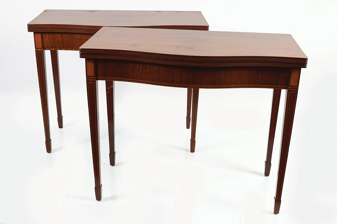 PAIR OF GEORGE III PERIOD MAHOGANY TABLES