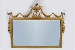 LATE 19THCENTURY GILT FRAMED OVER MANTLE MIRROR