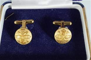 PAIR OF MILITARY GILDED CUFF LINKS