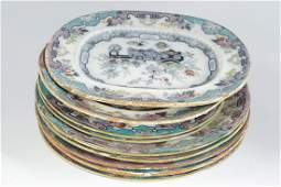 COLLECTION OF 29 EARLY IRONSTONE PLATES