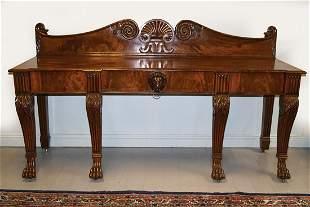 IRISH NINETEENTH-CENTURY MAHOGANY HALL TABLE