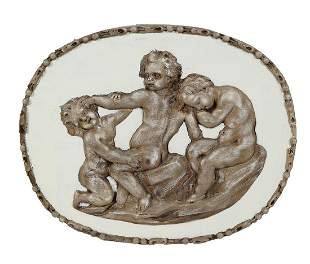 PAIR OF OVAL 18TH-CENTURY PLAQUES