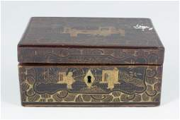 LATE 19TH-CENTURY CHINESE LACQUERED BOX