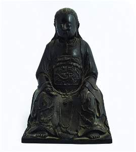 CHINESE QING PERIOD BRONZE BUDDHA