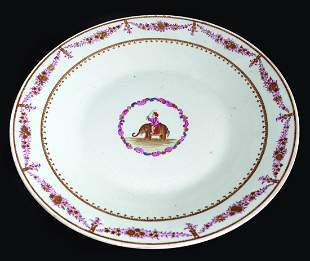 18TH-CENTURY ORIENTAL FAMILLE ROSE CHARGER