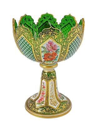 19THCENTURY VIENNA GLASS VASE