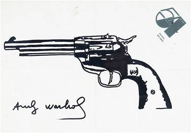 ANDY WARHOL SIGNED DRAWING