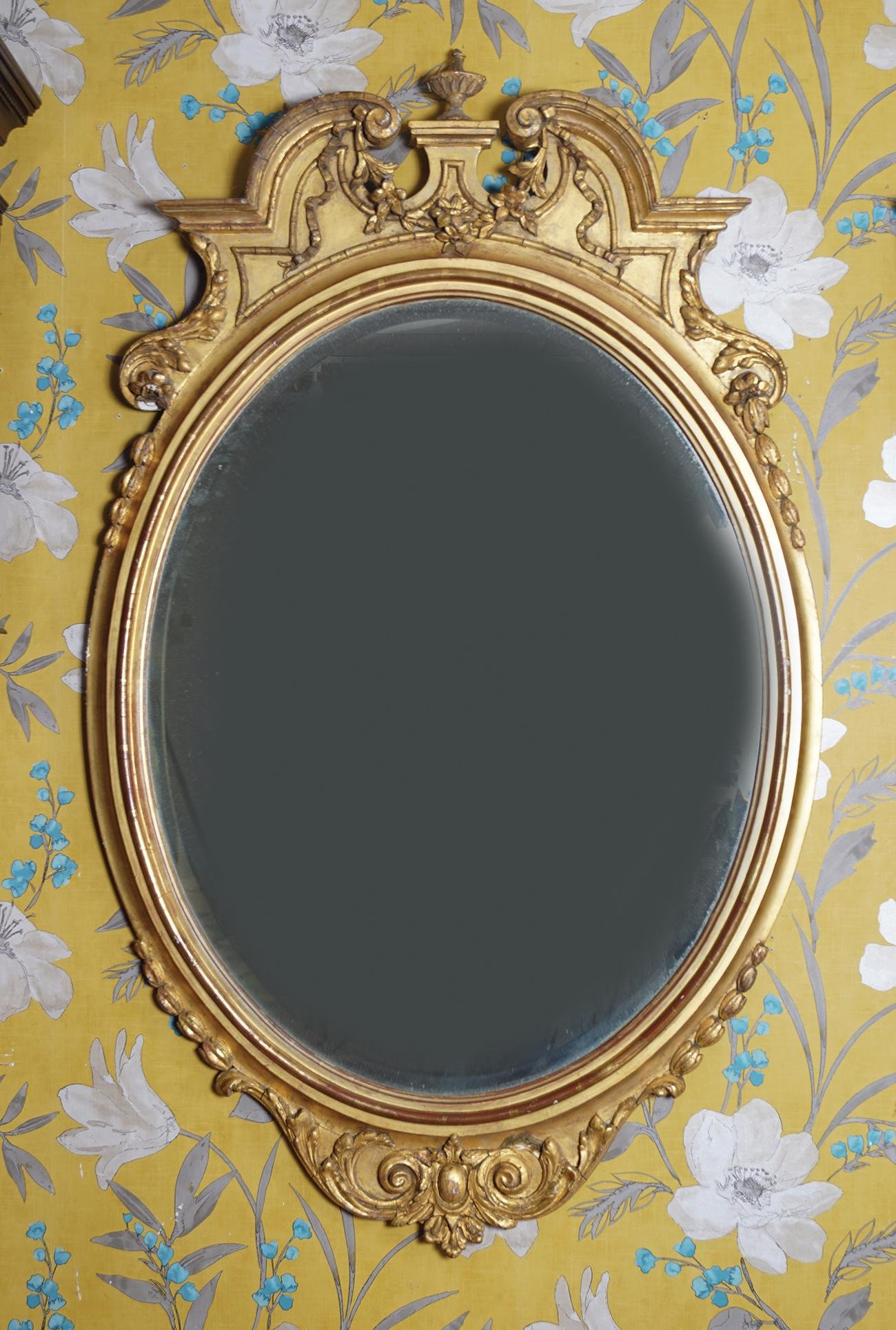 19TH-CENTURY CARVED GILTWOOD FRAMED PIER MIRROR
