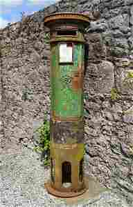 ORIGINAL CAST IRON IRISH POST AND TELEGRAPH PILLAR