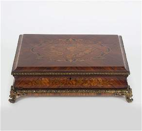 19TH-CENTURY FRENCH KINGWOOD & MARQUETRY BOX