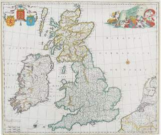 17TH-CENTURY MAP OF GREAT BRITAIN AND IRELAND